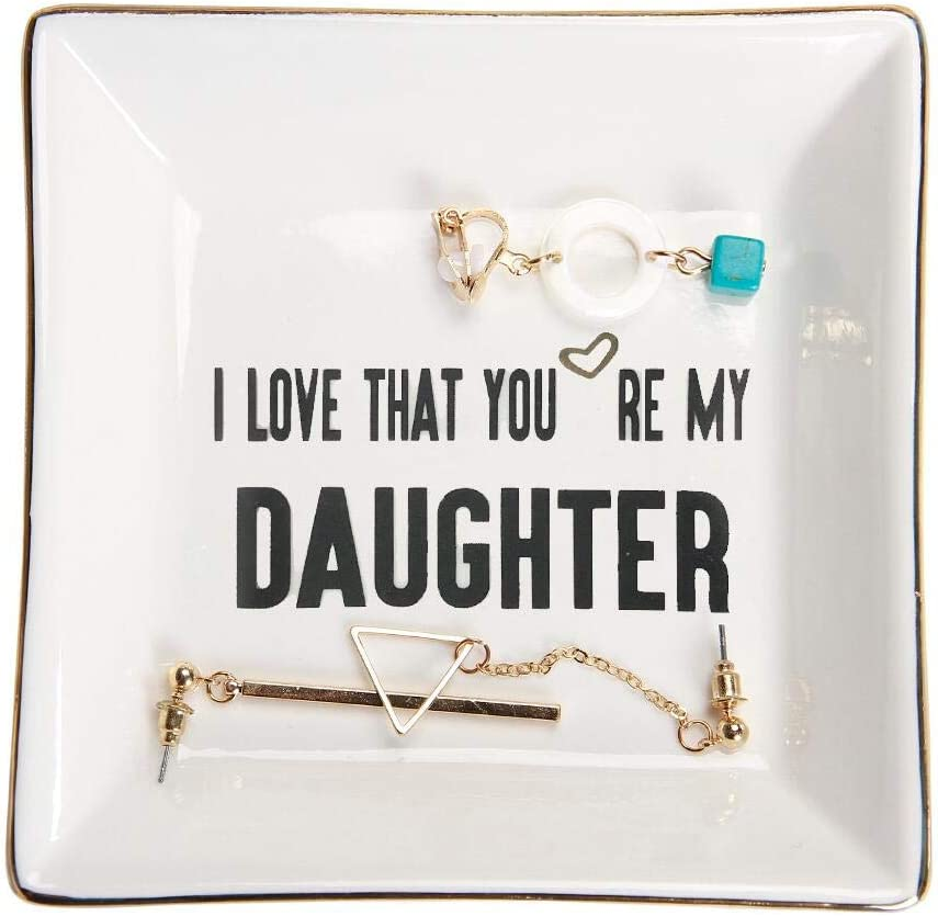 I Love That You're My Daughter Ceramic Ring Dish