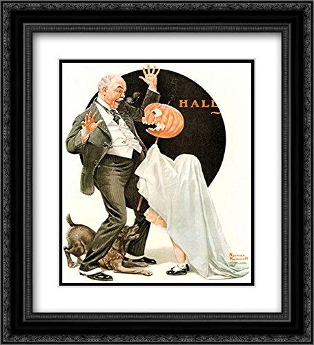 (Norman Rockwell 2x Matted 20x22 Black Ornate Framed Art Print)