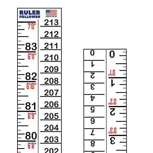 Stickers Measure (Height Indicator Adhesive Ruler - American-Made 7 Foot Ruler on a Sticker Roll)