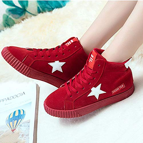 de imitación Round Cuero Rosa Heel de de Toe Rojo Comfort Sneakers ZHZNVX Pink Zapatos Mujer Flat Gris Fall qBFXp