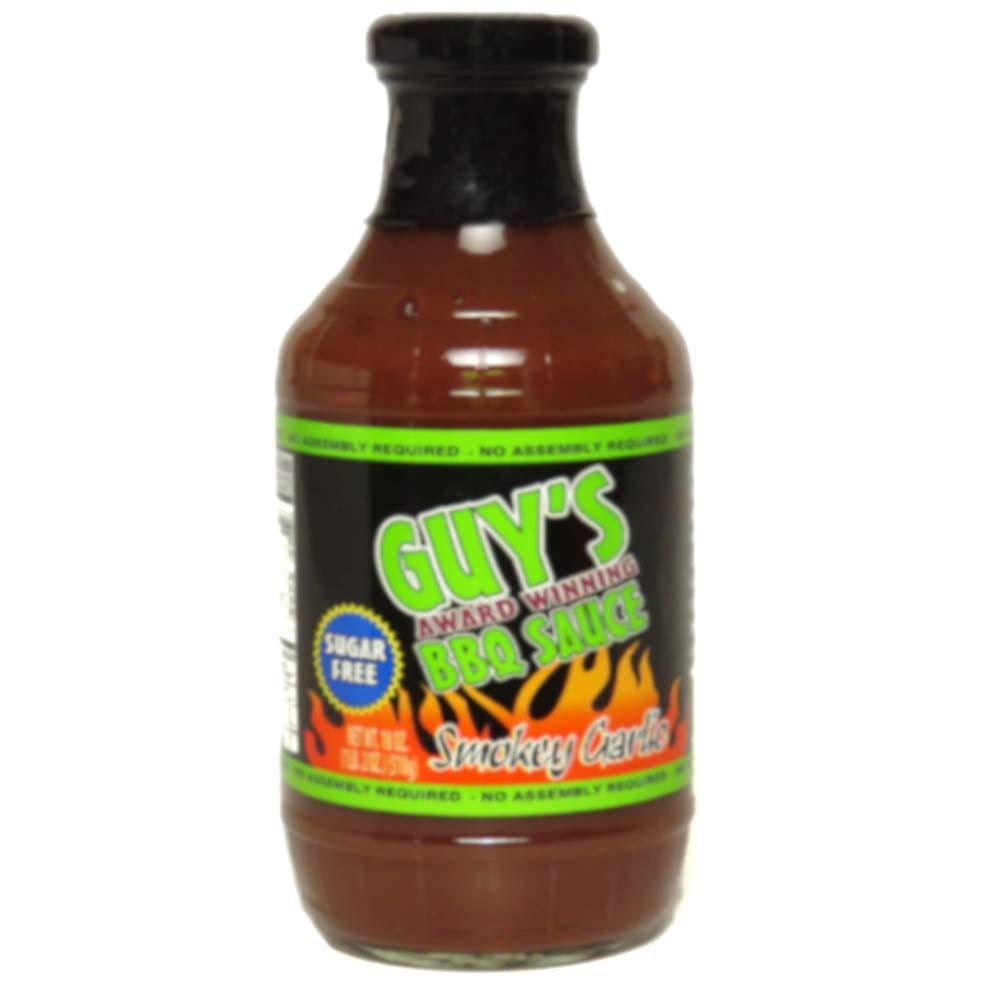 Guy's Award Winning Sugar Free BBQ Sauce 18 oz (Smokey Garlic)