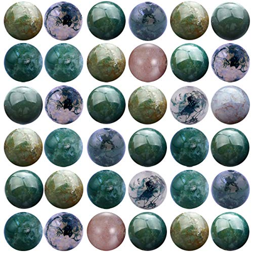 Natural Stone Beads 100pcs 10mm India Agate Round Genuine Real Stone Beading Loose Gemstone Hole Size 1mm DIY Smooth Beads for Bracelet Necklace Earrings Jewelry Making (India Agate, 10mm) - Genuine Agate Stone