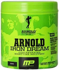 Muscle Pharm Arnold Schwarzenegger Series Iron Dream Nighttime Recovery, Grape, 30 Servings