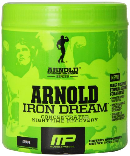 Muscle Pharm Arnold Schwarzenegger Series Iron Dream Nighttime Recovery, Grape, 30 Servings