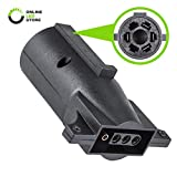 #3: ONLINE LED STORE 7-Way Blade to 4-Way Flat Trailer Adapter [Nickel-Plated Copper Terminals] [Rugged Nylon Housing] [Compact Design] 7-pin to 4-pin Trailer Wiring Plug Adapter