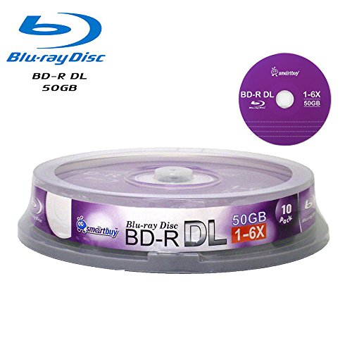 Smart Buy 30 Pack Bd-r Dl 50gb 6x Blu-ray Double Layer Recordable Disc Blank Logo Data Video Media 30-discs Spindle by Smart Buy