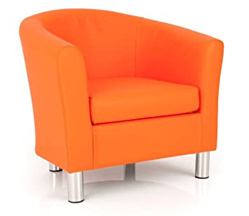 Ultimum Dawlish Lifestyle Fauteuil Cabriolet Simili Cuir Orange - Fauteuil orange