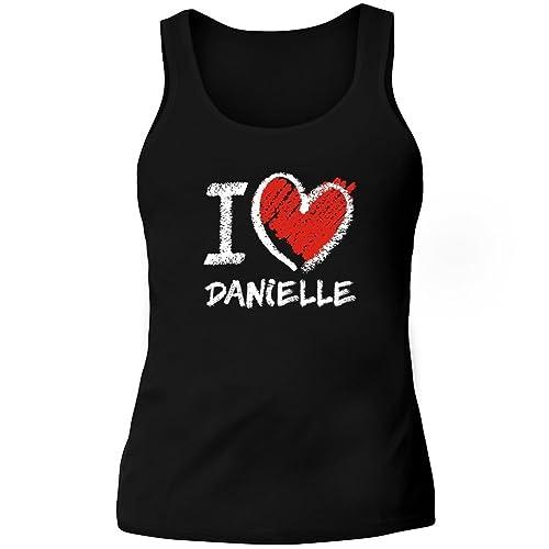 Idakoos I love Danielle chalk style – Nomi Femminili – Canotta Donna