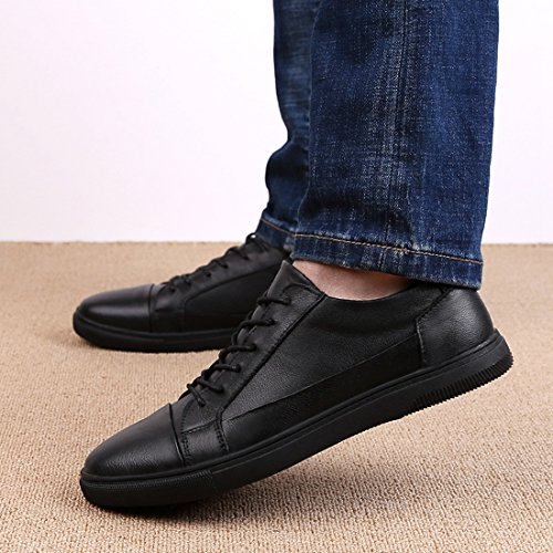 Minitoo Lightweight Soft Sole Basic Sneakers for Men Black clearance discount CDSXW02n
