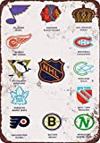 vintage hockey - 1968 Pro Hockey Teams Vintage Look Reproduction Metal Tin Sign 12X18 Inches