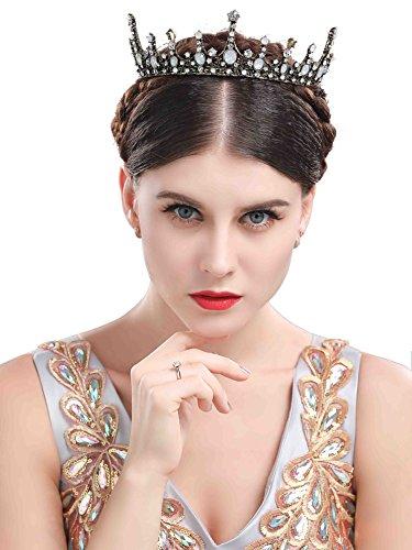 Chicer Baroque vintage Wedding Crown Bridal Tiara boutique headdress.