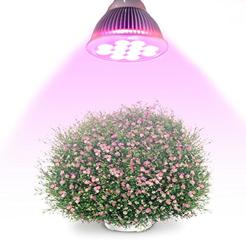 DuaFire LED Grow Light 24W Plant Growing Lights E27 Bulbs with 3 Bands for Garden Greenhouse and Hydroponic Full Spectrum Growing Lamps (24W)