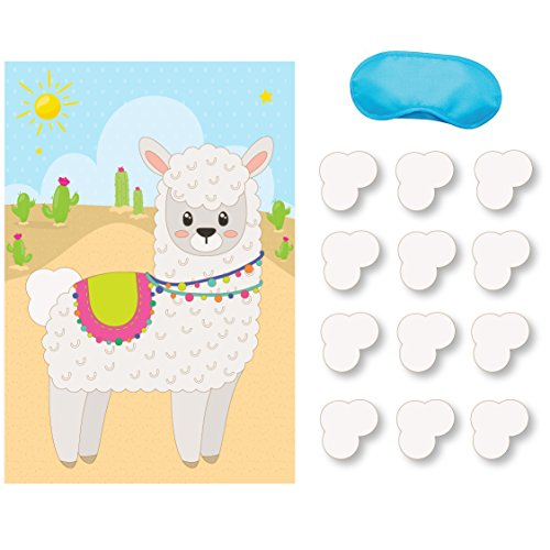 Pin the Tail on the Llama Game -