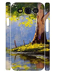 Natural Personalized Beautiful Oil Painting Trees Hard Plastic Samsung Galaxy S3 I9300 Cover Case