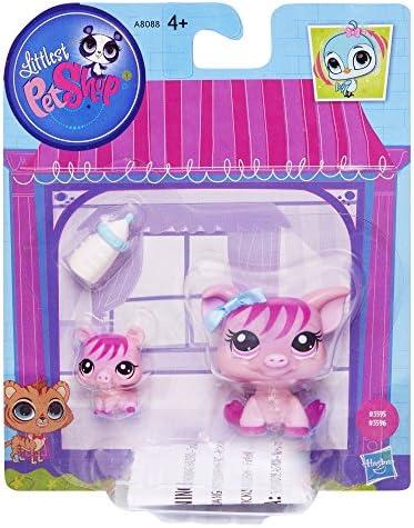 Littlest Petshop #3595 cochon et # 3596 bébé de cochon animaux