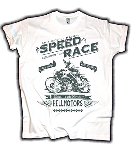 HELLMOTORS Speed Race Superior Cafe Race T-Shirt Herren Biker Oldschool