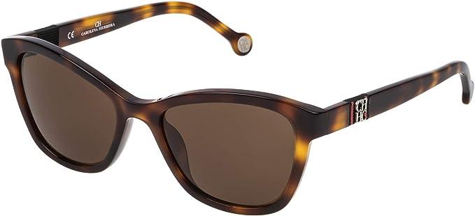 Carolina Herrera Gafas de Sol Mujer SHE698530752 (Diametro 53 mm), Marron, 53/19/140 Unisex-Adult: Amazon.es: Ropa y accesorios