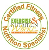 Fitness Nutrition Specialist Certification. Exercise & Nutrition Works' Certified Fitness Nutrition Specialist™ offers CEU's/CEC's to INCREASE INCOME and NUTRITION KNOWLEDGE. CREATE CUSTOMIZED NUTRITION PLANS and client success with Hemispheric Integration™ and NLP skills. Includes 1 CD-ROM plus 4 DVD's and course online access.