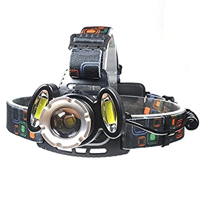 XIAOBUDIAN 8000 Lumens High Power LED Headlamps 2x18650 Long Range Head Torch Light T6+Zoomable LED Headlight Waterproof Head Lamp