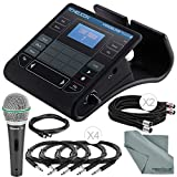 TC-Helicon VoiceLive Touch 2 Vocal Effects Processor w/ Touch Interface and Accessory Bundle w/ Samson Q6 Mic + Fibertique Cloth + Xpix Cables