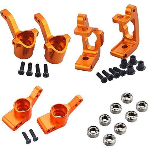 Hobbypark Aluminum Front Knuckle Base C Hub Rear Hub Carrier Set (L/R)(Al.) for RC HPI WR8 Flux Bullet ST MT 3.0 Ken Block Upgrade Parts ()