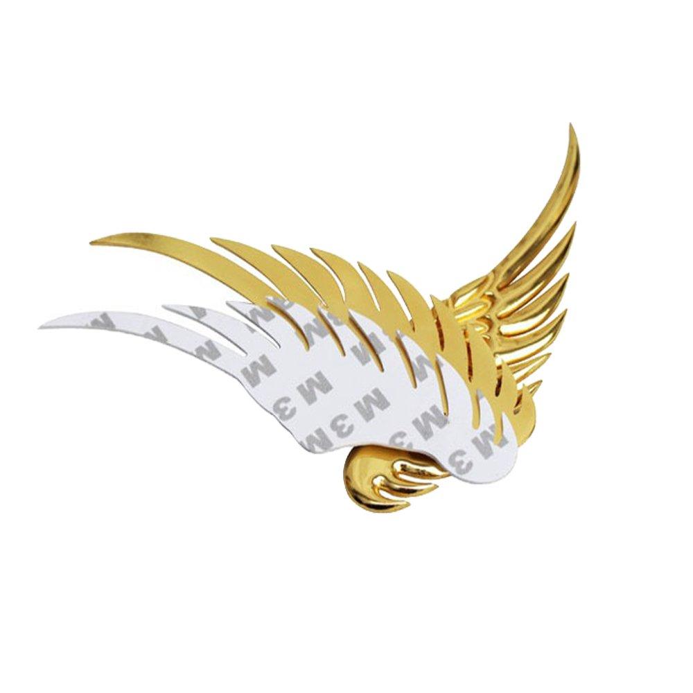 Boladge Personalizar Etiquetas engomadas Decorativas del Cuerpo de autom/óvil Etiquetas engomadas de Las alas del Metal 3D Plata