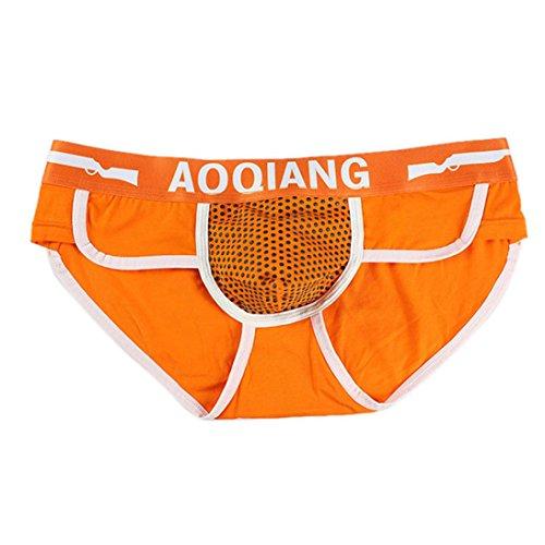 iOPQO Fashion Men Boxer Brief Shorts Soft Cotton Underwear Bulge Pouch (Naughty Bear Gold Costumes)