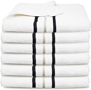 Towelogy Toallas de Mano 100% algodón Egipcio 450 g/m² Gris Grande Multiusos para Viajes, Manos, Cara, Gimnasio, SPA, 80 x 50 cm, algodón, Blancanieves, Paquete de 6: Amazon.es: Hogar