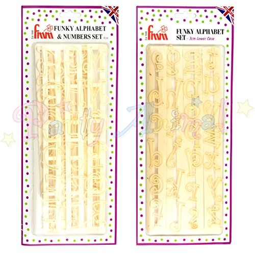 FMM Funky Alphabet & Number Tappit Cutters Set