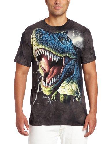 The Mountain Lightning Rex Adult T-Shirt, Black, 5XL