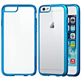 iPhone 6 Plus Case, LUVVITT® [CLEARVIEW] iPhone 6 Plus (5.5) Case Bumper **NEW** [Hybrid Clear View Armor Series] [Blue] Bumper Case with Clear Back Panel - Retail Packaging - Bumper Case for iPhone 6 Plus (5.5) (2014) - Clear / Transparent Blue