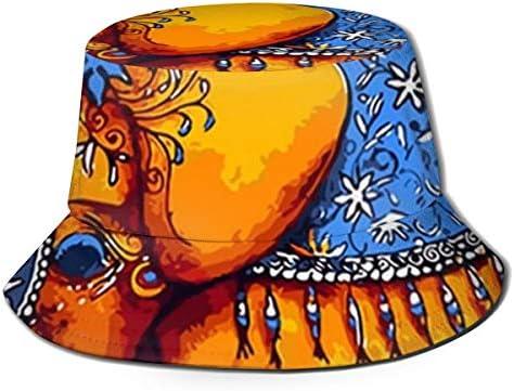 Junkai インド象 バケットハット 男女兼用帽子 UV 翼幅広 紫外線対策 日よけ 小顔効果