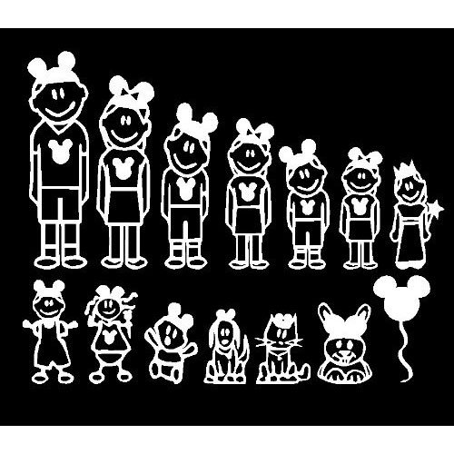Disney car window decals walt disney world exclusive boy decals bumper stickers amazon canada