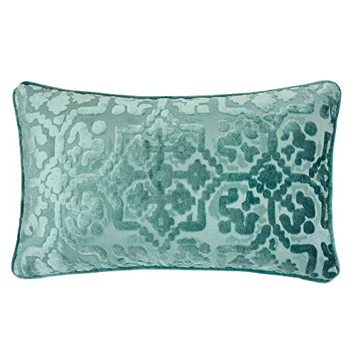 Homey Cozy Modern Velvet Rectangle Throw Pillow Cover,Spa Green Luxury Soft Fuzzy Cozy Warm Slik Decorative Lumbar Sofa Couch Cushion Case 12x20, Cover Only