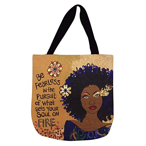 Shades of Color Woven Tote Bag, Soul On Fire, 17 x 17 inches (WTB112)