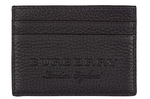 Burberry men's genuine leather credit card case holder wallet - Credit Card Burberry