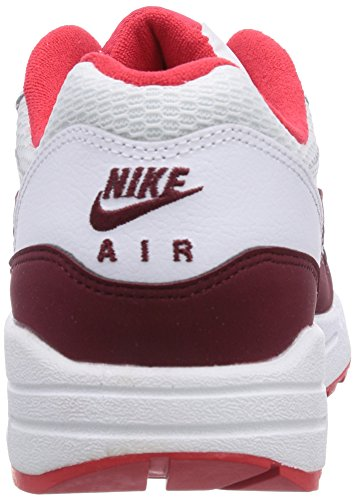 Nike - Zapatillas de running Air Max 1 Essential Blanco (White/Team Red-Action Red 110)