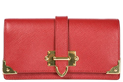 Prada women's body leather bag messenger cross red shoulder porta iPhone 66qwPx