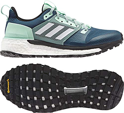 (adidas outdoor Women's Supernova Trail Real Teal/White/Clear Mint 9 B US)
