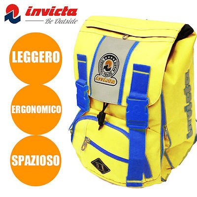 8c6536997d ZAINO SCUOLA SDOPPIABILE INVICTA MISSION FLUO NEW GIALLO: Amazon.it ...