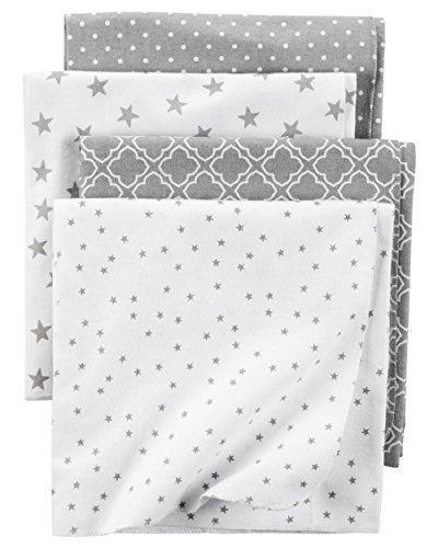 Carter#039s Flannel Receiving Blankets Stars