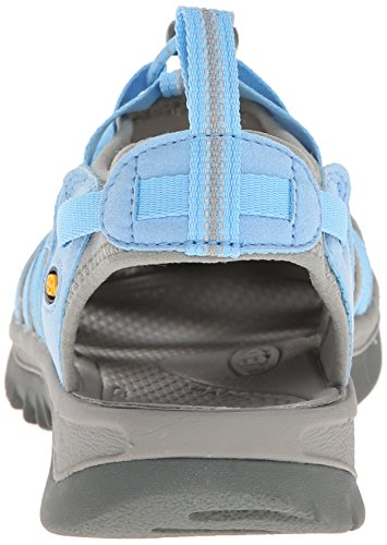 Keen WHISPER W-NEUTRAL GRAY/BRIGHT CHARTREUSE 1008452 - Sandalias para mujer Azul