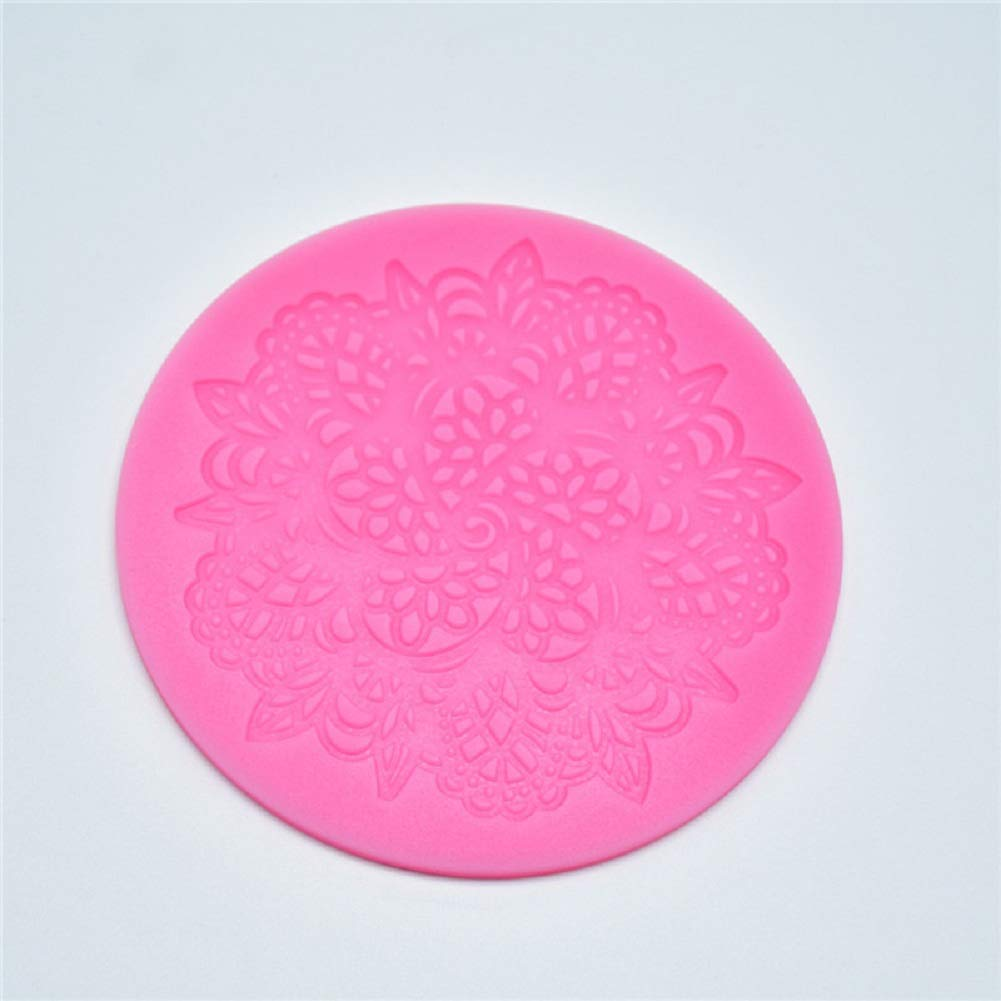 Qifumaer Lace Flowers Pattern Cookie Cutter Mould DIY Silicone Mould Cake Decorating Tool Chocolate Fondant Jelly Muffin Pudding Mold