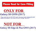 """URAKKI Case, Hybrid 2 Layer Shock Proof Heavy Duty Armor Kickstand Hard Case Compatible with Samsung Galaxy S8 G950… 6 COMPATIBLE WITH: Samsung Galaxy S8 G950 ( 2017 ) / ** NOT FOR ** Galaxy S8 """"Plus"""" , S8 """"Edge"""" G955 (2017) DUAL LAYERED - combination of skin and hard """"Grade A"""" material for a good, balanced protection BUILT IN KICKSTAND - allows for convenient, hands-free landscape or portrait viewing"""