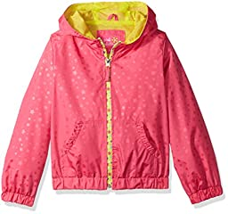 Pink Platinum Little Girls\' Heat Stamp Active Jacket with Mesh Lining, Pink, 6X