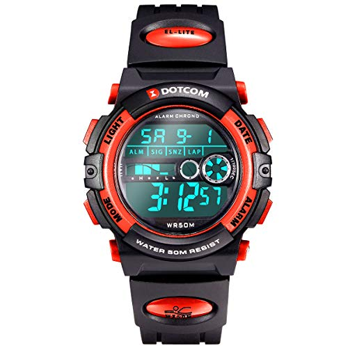 Digital Watch for Kids, Outdoor Sports Camping Swimming Boys Watch Girls Watch 5 ATM Waterproof Wrist Watch with Alarm…
