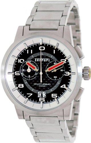 Ferrari Carbon Fiber Dial Chronograph Stainless Steel Mens Watch FE-11-ACC-CM-BK