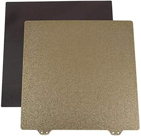 LWQJP ゴールデンダブルテクスチャPEIパウダー鋼板の3Dプリンタのアクセサリーと235x235mm 3Dプリンター磁気ステッカーB表面