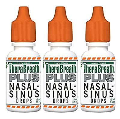 Dr. Katz TheraBreath PLUS Nasal-Sinus Drops, 0.5-Ounce Bottles (3 Count)