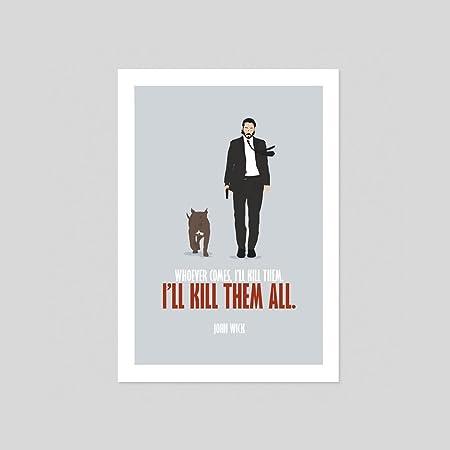 John Wick 2 Keanu Reeves Movie Retro Action Film Art Poster Fan art ...